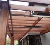 Wood shade arbor restoration
